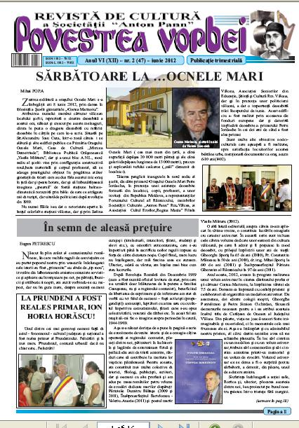 Povestea Vorbei Iunie 2012
