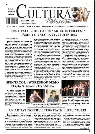 Cultura Valceana iulie 2012