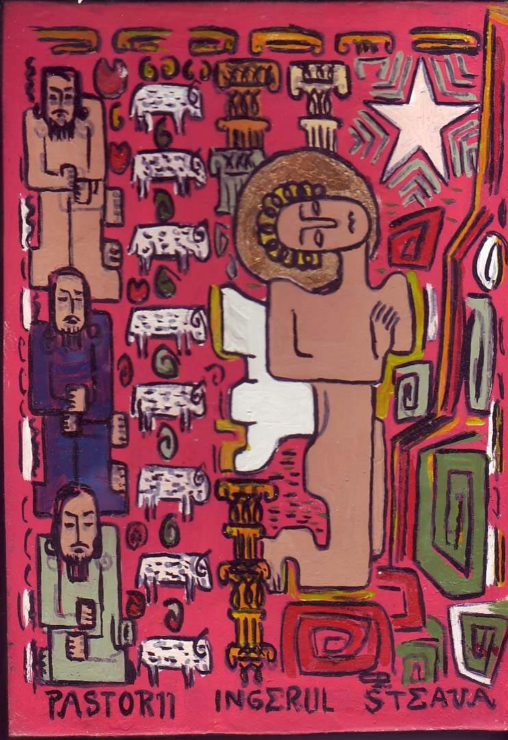 Păstorii, Îngerul şi Steaua, lemn, ulei, 2005, CP