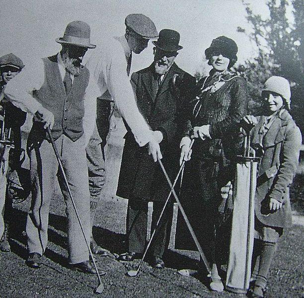 Brancusi, Roche, Satie & Foster, 1923, jucand golf