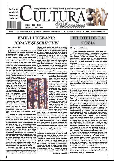 Cultura Valceana martie 2013