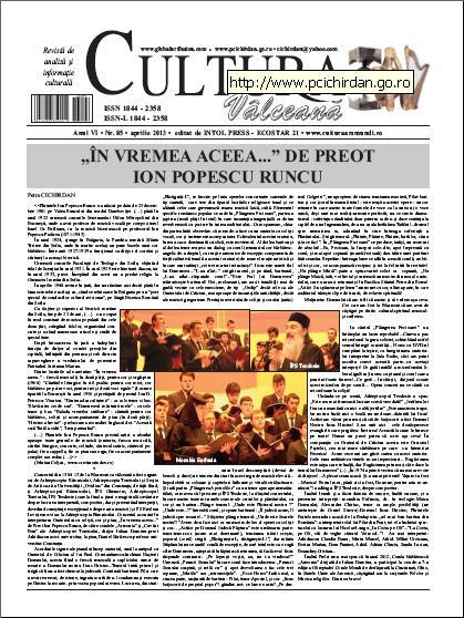 Cultura Valceana aprilie 2013