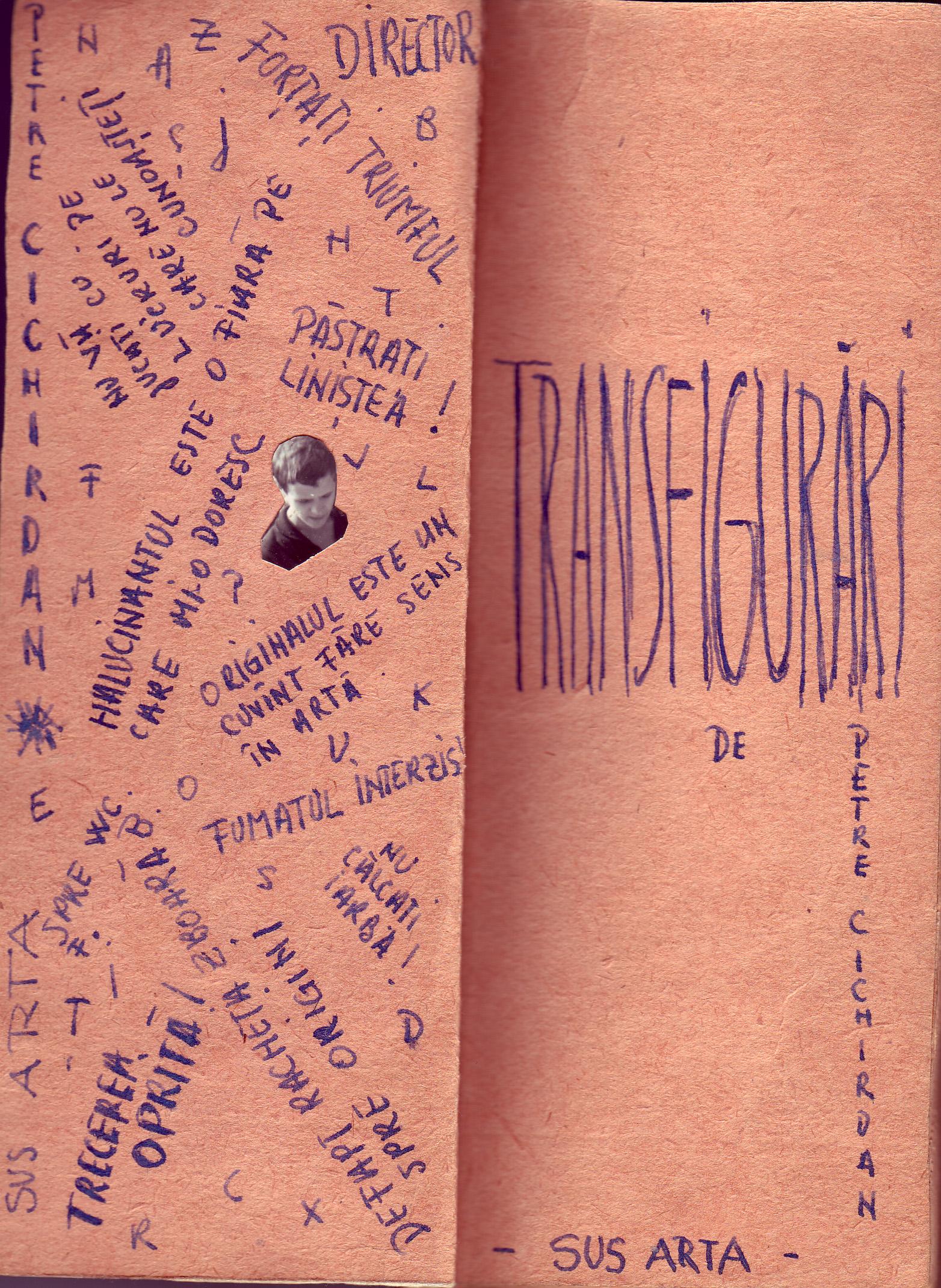 Transfigurari, Ed. Sus Arta, 1968, paginile 2-3