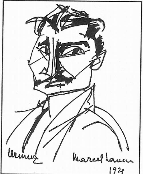 Urmuz desen de Marcel Iancu 1921