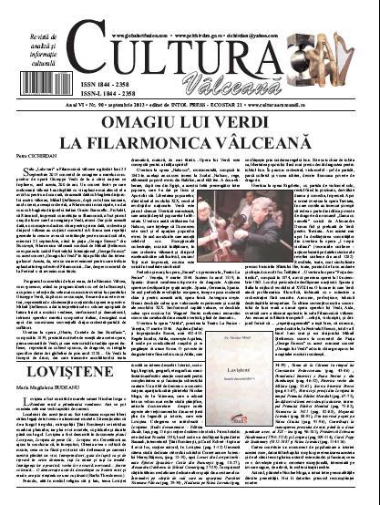 Cultura Valceana septembrie 2013