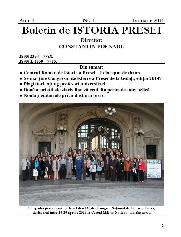 Buletin de ISTORIA PRESEI