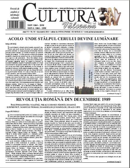 Cultura Valceana decembrie 2013