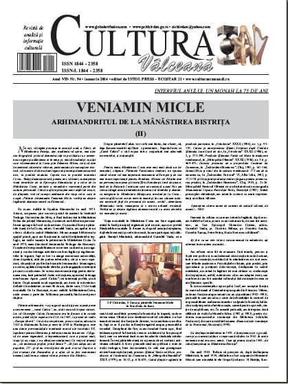 Cultura Valceana ianuarie 2014