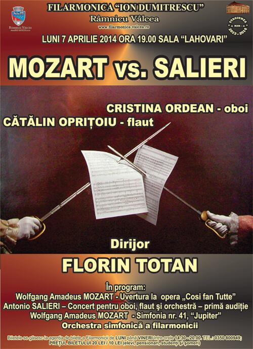 Afis Mozart vs. Salieri 7, aprilie 2014