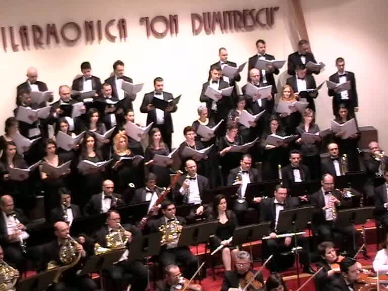 Corul Academic al Filarmonicii, dirijor Mihail Ştefănescu