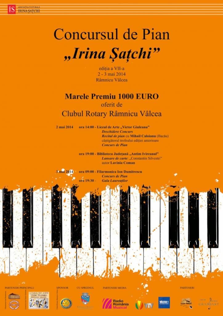 Afis Concursul de Pian Irina Satchi