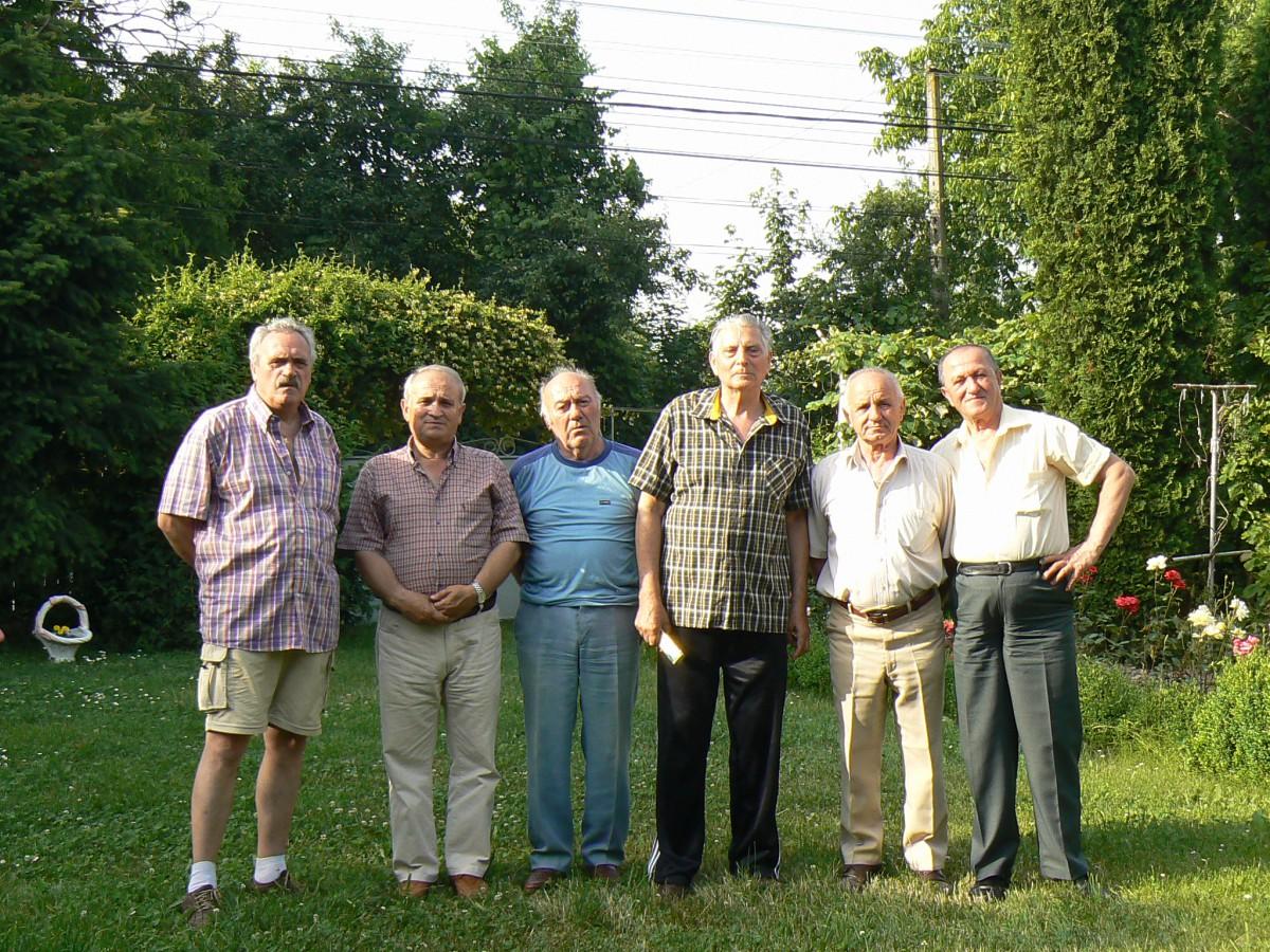 Trupa de şoc a FCR...P.Cickirdan, Ilie Gorjan, Gh Dumitraşcu, Al Popescu,N. Dinescu, I. Soare