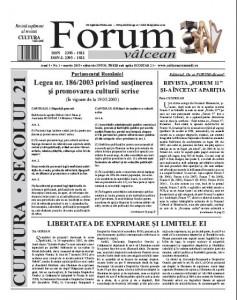 Forum valcean martie 2015
