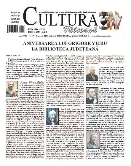 Cultura Valceana februarie 2015