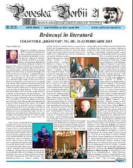 Povestea Vorbii martie 2015