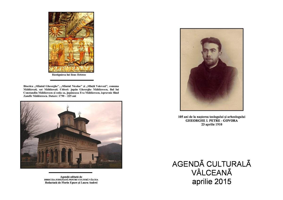 Agenda Culturala Valceana, aprilie 2015