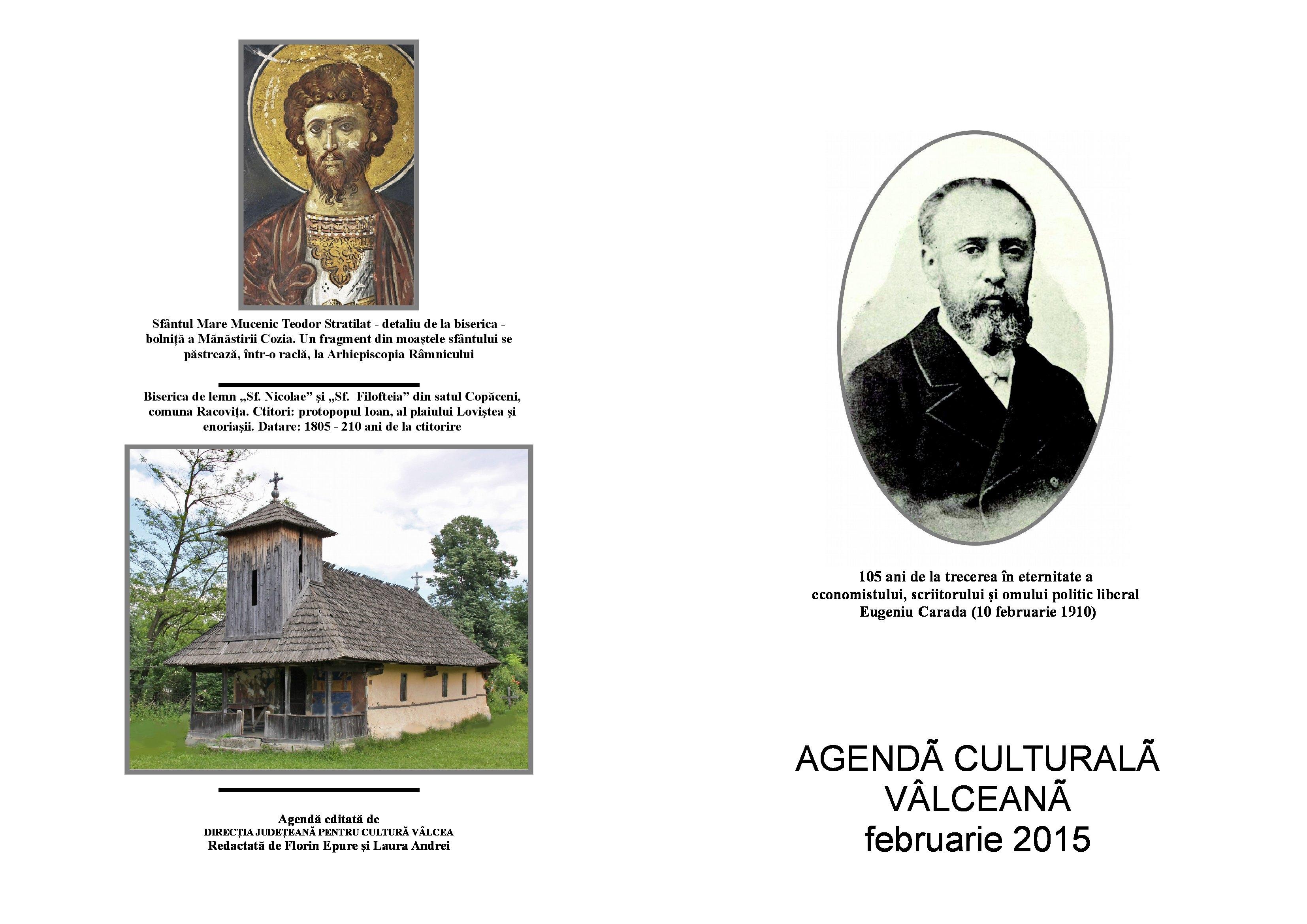Agenda Culturala Valceana, februarie 2015