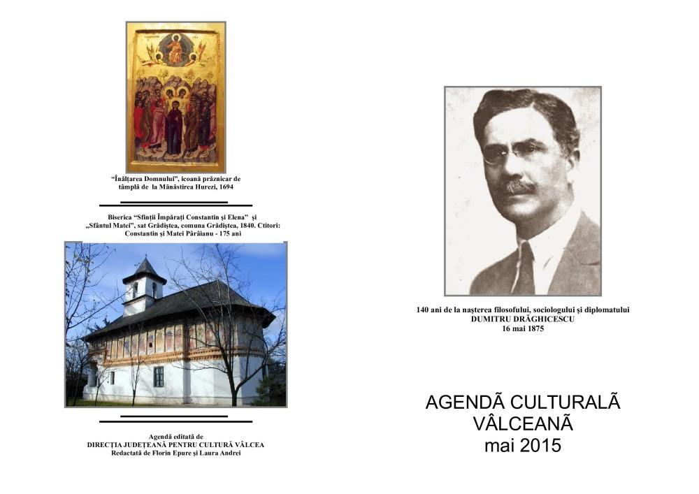 Agenda Culturala Valceana, mai 2015