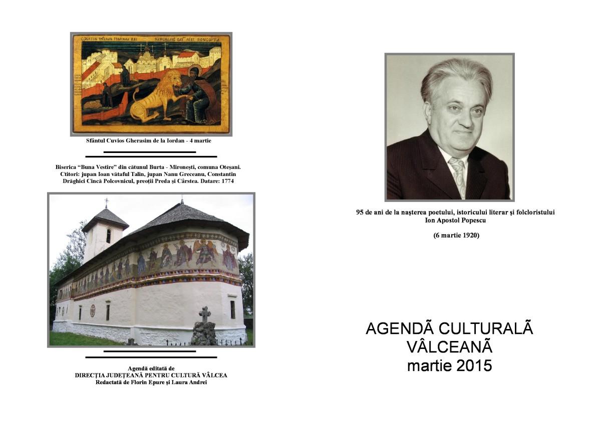 Agenda Culturala Valceana, martie 2015