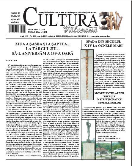 Cultura Valceana martie 2015