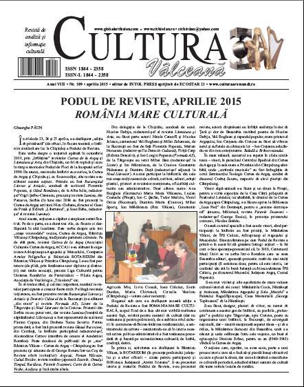 Cultura Valceana aprilie 2015